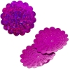 Sequins Hologram 36mm With Hole Flower Fuchsia